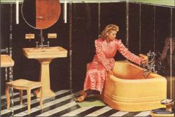 bild oben um 1930 konnten sich nur ganz wenige den luxus eines solchen badezimmers leisten. Black Bedroom Furniture Sets. Home Design Ideas
