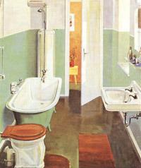 Bild Oben: Um 1930 Konnten Sich Nur Ganz Wenige Den Luxus Eines Solchen  Badezimmers Leisten!